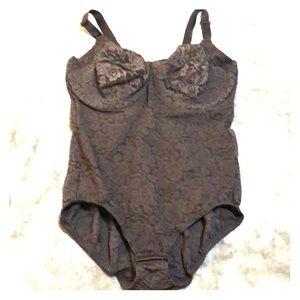 NWOT Bali Black Lace Shapewear Bodysuit
